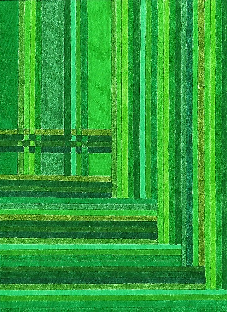 Abstract Art Study - Greens by Oldetimemercan