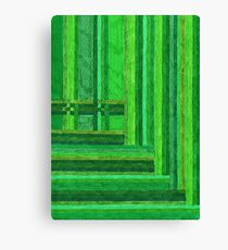 Abstract Art Study - Greens Canvas Print