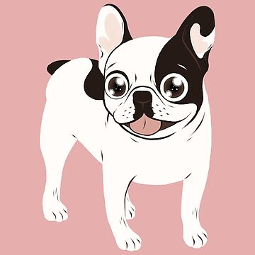 Happy and Fun Single Hooded Pied French Bulldog by cheesim
