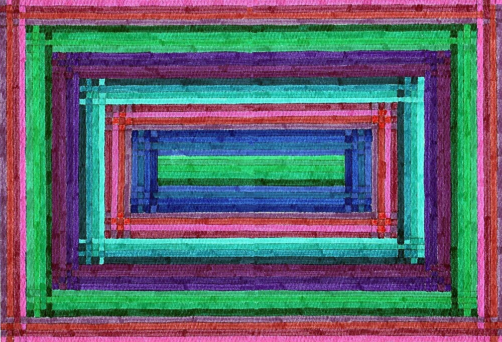 Abstract Art Study - Rectangle Weave by Oldetimemercan