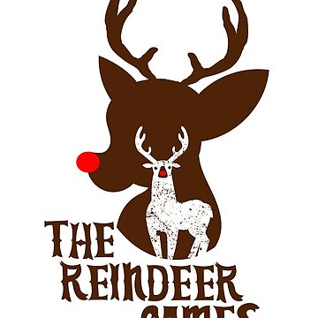 The Red Nose Reindeer Games Xmas Tshirt by RosinaSays