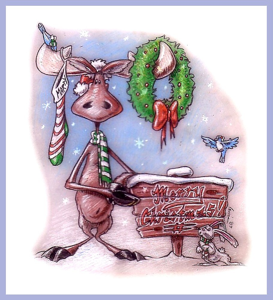 Have a Marty Merry Christmoose! by Dan Lewis