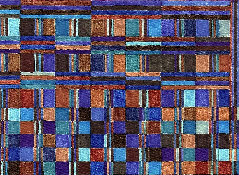 Abstract Art Study - Blues & Browns by Oldetimemercan