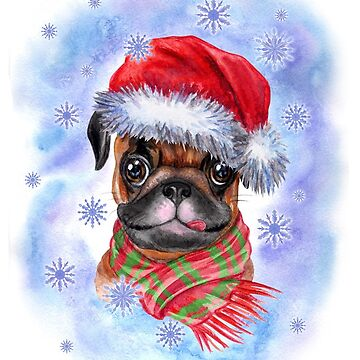 Christmas and Pug by AllenLee
