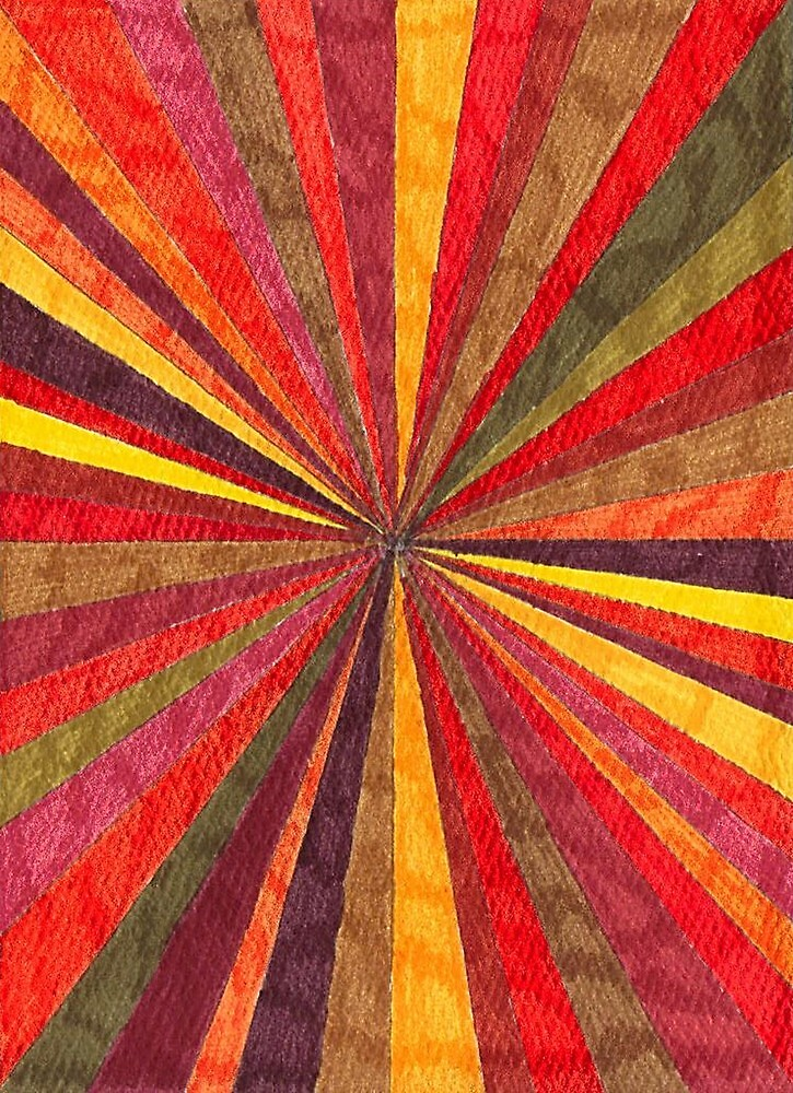 Abstract Art Study - Red Starburst by Oldetimemercan