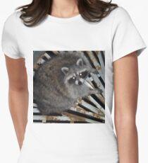 Raccoon Women's Fitted T-Shirt
