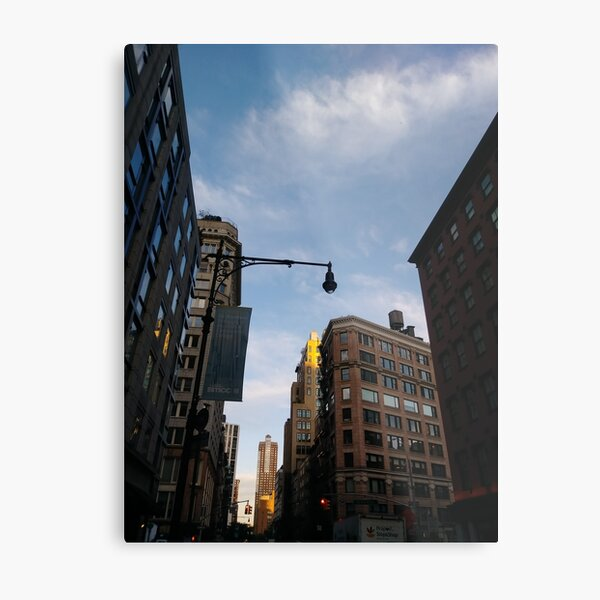 #sky, #architecture, #business, #city, #outdoors, #technology, #modern, #vertical, #colorimage, #NewYorkCity, #USA, #americanculture Metal Print