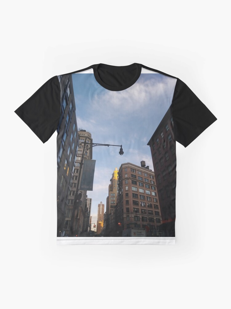 Alternate view of #sky, #architecture, #business, #city, #outdoors, #technology, #modern, #vertical, #colorimage, #NewYorkCity, #USA, #americanculture Graphic T-Shirt