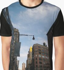 #sky, #architecture, #business, #city, #outdoors, #technology, #modern, #vertical, #colorimage, #NewYorkCity, #USA, #americanculture Graphic T-Shirt