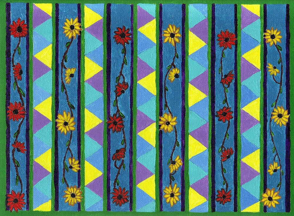 Abstract Art Study - Flowers & Paisley by Oldetimemercan