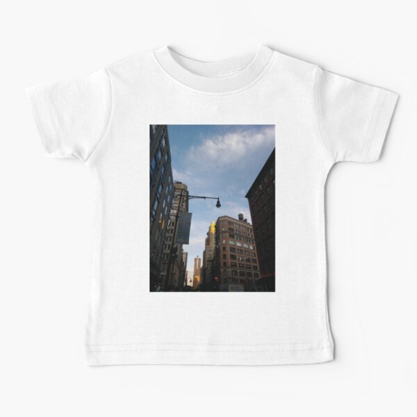 #sky, #architecture, #business, #city, #outdoors, #technology, #modern, #vertical, #colorimage, #NewYorkCity, #USA, #americanculture Baby T-Shirt