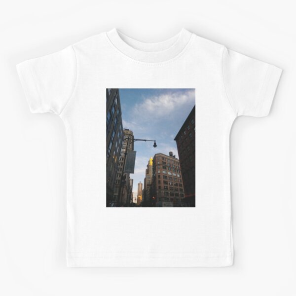 #sky, #architecture, #business, #city, #outdoors, #technology, #modern, #vertical, #colorimage, #NewYorkCity, #USA, #americanculture Kids T-Shirt