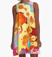Boom! Everything - Watercolor Painting A-Line Dress