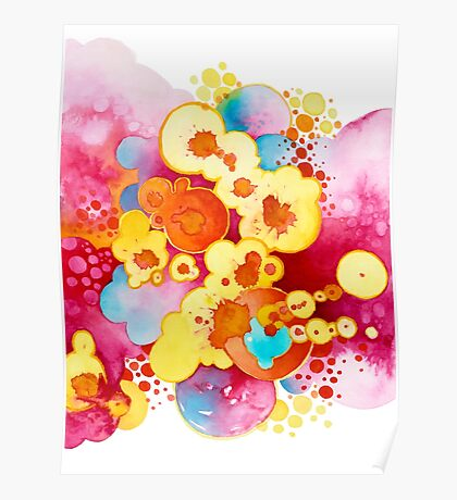 Boom! Everything - Watercolor Painting Poster