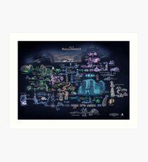 Hollow Knight Map Hollownest Art Print