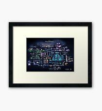 Hollow Knight Map Hollownest Framed Print