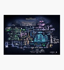 Hollow Knight Map Hollownest Photographic Print