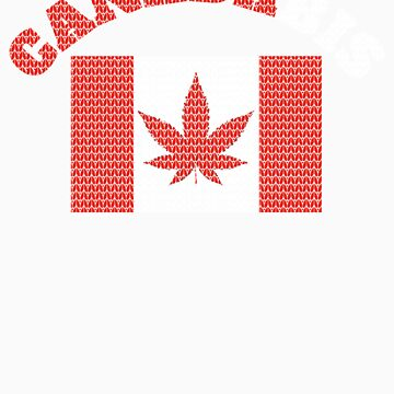 CANADABIS CHRISTMAS SWEATER PATTERN RED AND WHITE LETTERS by fungear