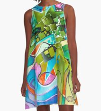 What Happened Before You? - Watercolor Painting A-Line Dress