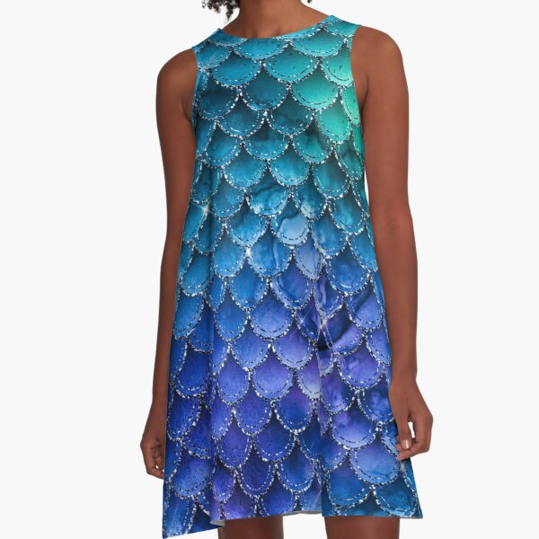 Mermaid Sparkles Multi 1 A-Line Dress