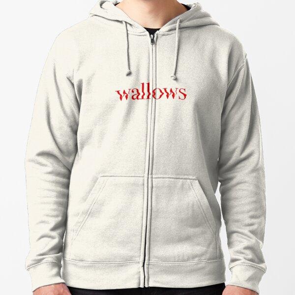 wallows red logo Zipped Hoodie