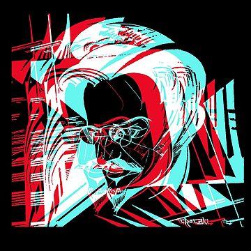 "Findigo ""Trotsky"" 3D communism motif T-shirt by fenixdesign"