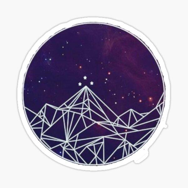 ACOMAF Night Court mountains pattern Sticker