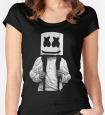 school marshmello Women's Fitted Scoop T-Shirt