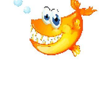 Piranha | 8 Bit Pixel Art  by ctaylorscs
