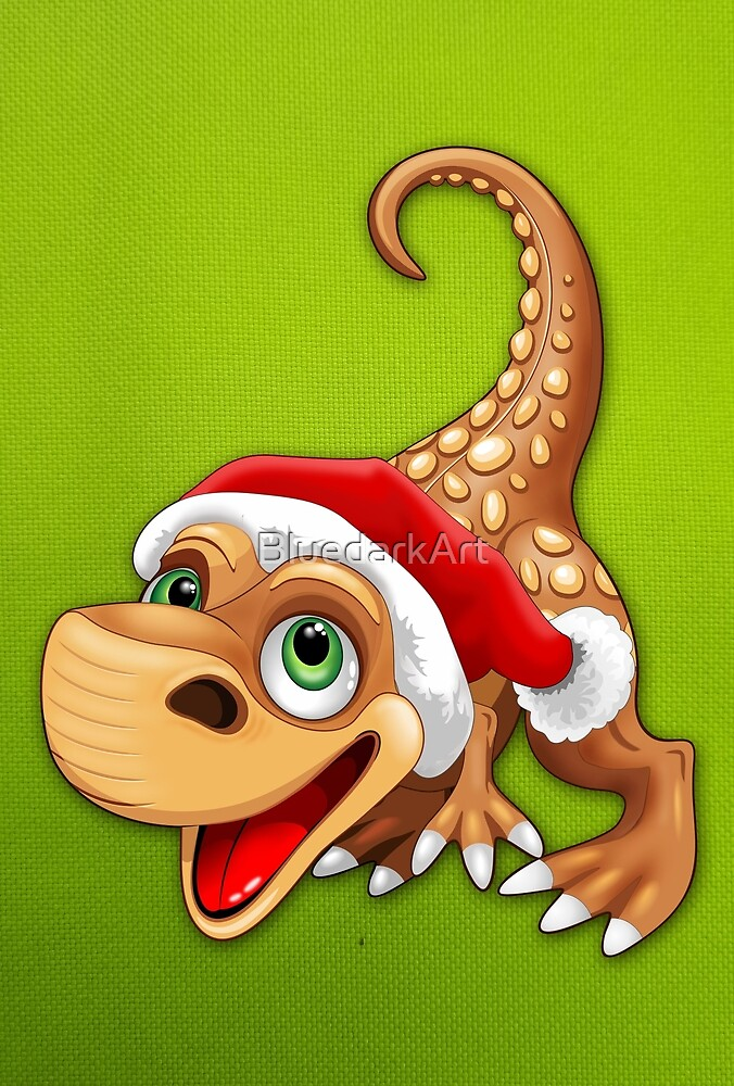 Dinosaur Baby Cute Santa Claus by BluedarkArt