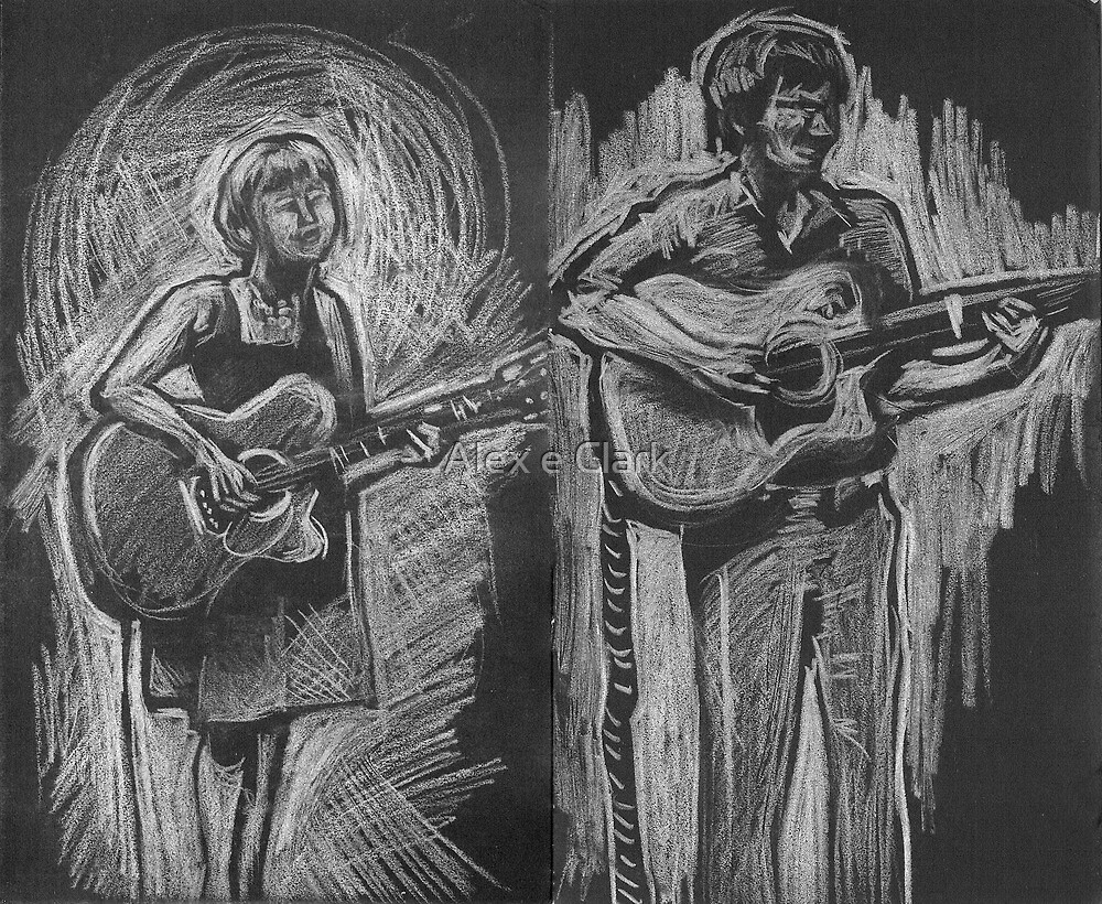 Wesley Anne guitar studies - Emma Heeney and Justin Heazlewood by Alex e Clark