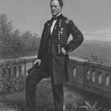 William Tecumseh Sherman Engraved Portrait by warishellstore