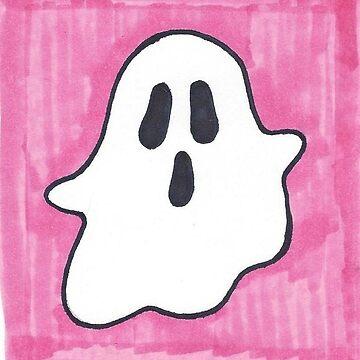 Cute Spoopy Pink Ghost by m-oonriver