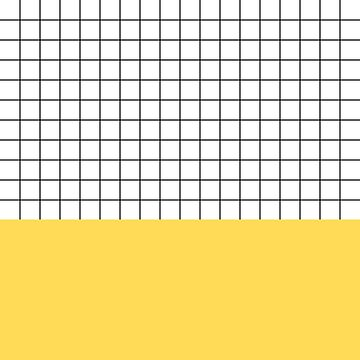 Black Grid On White Above Mustard Yellow by rewstudio