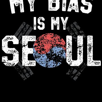Bias Is My Soul - Kawaii K-Pop Music T-Shirt Korean Flag Gift by 14thFloor