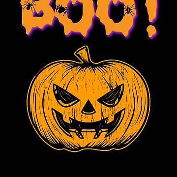 Boo! Scary Face Jack o Lantern Halloween Holiday T shirt by we1000