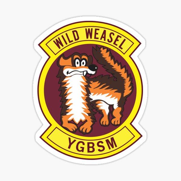 Wild Weasel - Tienes que estar cagándome - Estilo limpio Pegatina