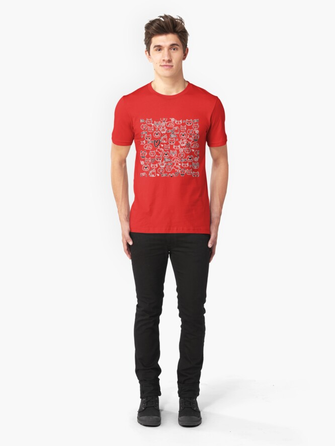 Alternate view of Meow Cats Slim Fit T-Shirt