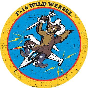 F-16 Wild Weasel - Grunge Style by pzd501