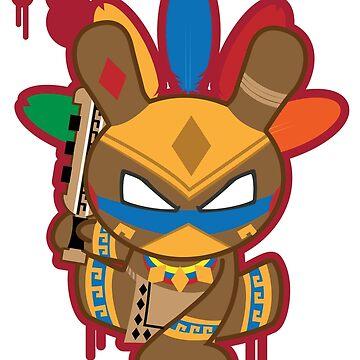 Aztec Warrior Quauhtli by tgil
