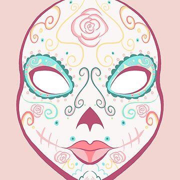 Dia de Muertos Rose Mask by AnazenArt