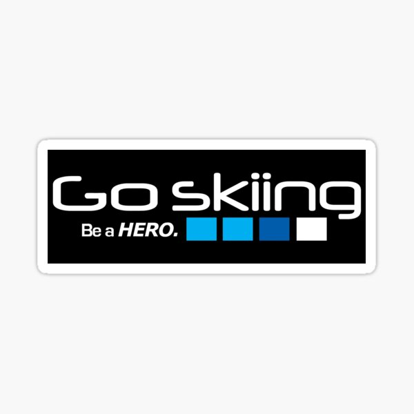 Skiing Sticker