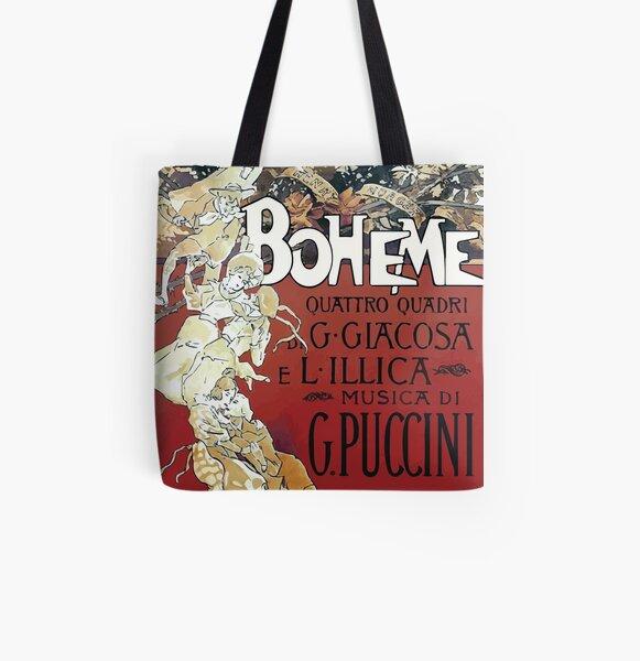 La Boheme Vintage All Over Print Tote Bag