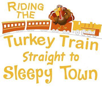 Thanksgiving Turkey Train to Sleepy Town by wilsonellis