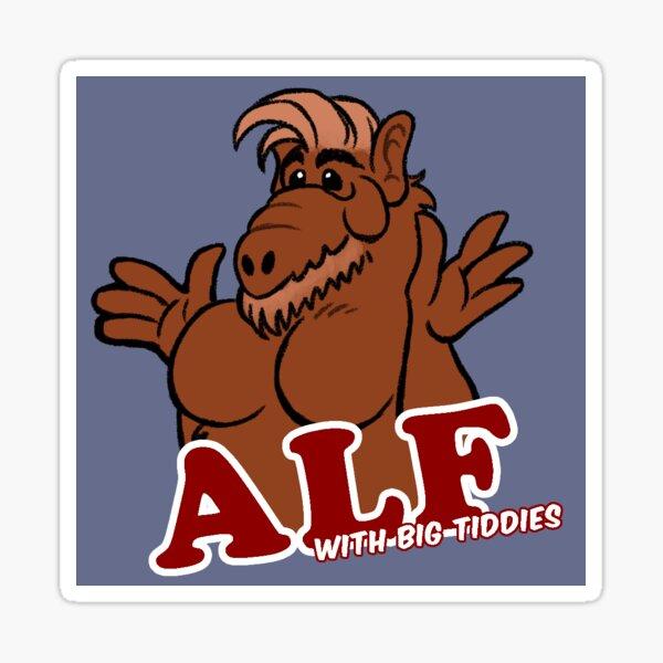 Big Tiddy Alf Sticker
