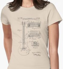 Guitar patent from 1955 Women's Fitted T-Shirt