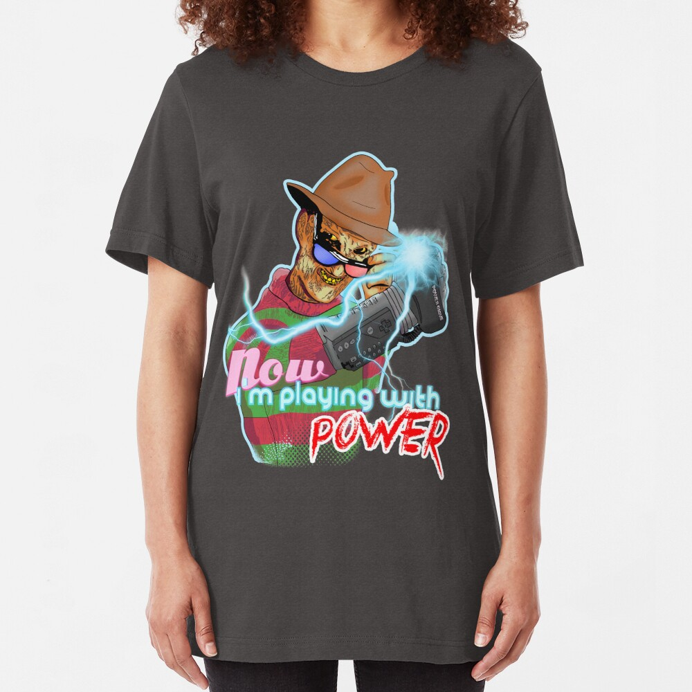 Don't Forget The Power Glove Slim Fit T-Shirt