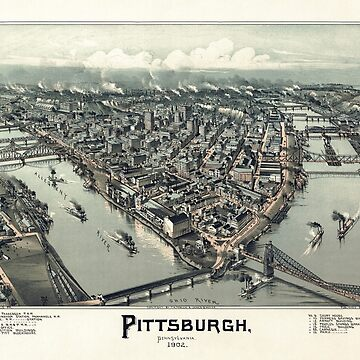 Pittsburgh Pennsylvania - Bird's Eye View - 1902 by warishellstore