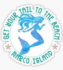 Marco Island Florida Mermaid Sticker
