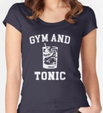 Gym and Tonic (sunny) Women's Fitted Scoop T-Shirt